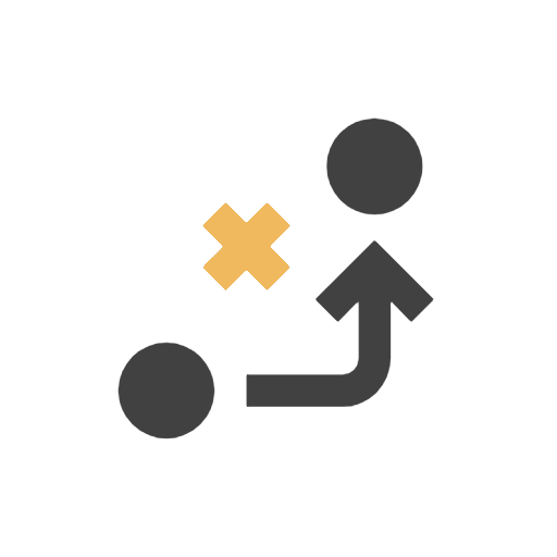 icon of a Xs and Os to represent game plan